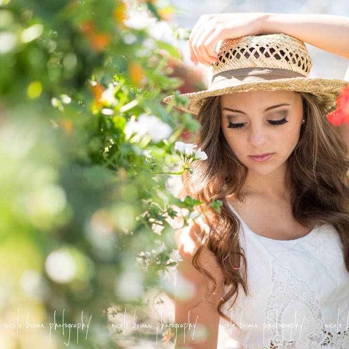 nicole briann photography oregon senior photographer Ilima // Johnson Brothers Greenhouses Coburg Oregon